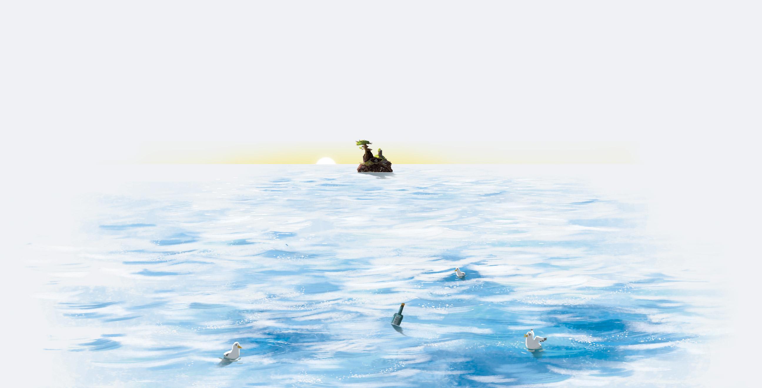 île en vue